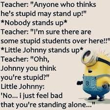 Yasss gonna raise my child like this lol Funny Texts Jokes, Funny Minion Memes, Funny Insults, Funny School Jokes, Funny Comebacks, Some Funny Jokes, Crazy Funny Memes, Really Funny Memes, Funny Puns