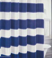 Nautica Guardsman Stripe Navy/Blue/Off-White Shower Curtain
