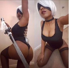 2Booty Nier Automata Cosplay by JosephBlackblade30.deviantart.com on @DeviantArt - More at https://pinterest.com/supergirlsart #2b #cosplay #girl