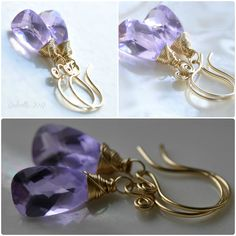 oOo The LAVANDULA Earrings oOo. $49.00, via Etsy.