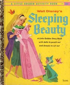 sleeping beauty little golden book with paper dolls inside ~ i would have loved this book!