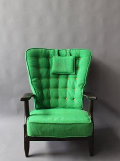 "French 1950s ""Grand Repos"" Armchair by Guillerme et Chambron 10"