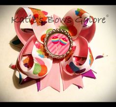 Pink candy bow #bow #hairbow #pinkbow #candy