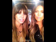Kourtney Kardashian Bangs {wispy fringe}