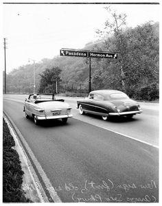 Los Angeles freeway signs, 1951
