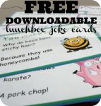 Looking for something fun for your kids this year Download these Free lunchbox joke cards!  #backtoschool