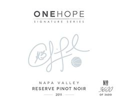 2011 ONEHOPE Chris Paul Signature Series, Napa Valley Pinot Noir 750 mL Wine *** Want additional info? Click on the image.