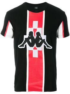460b12567e83 Shop Marcelo Burlon County Of Milan Kappa print T-shirt.