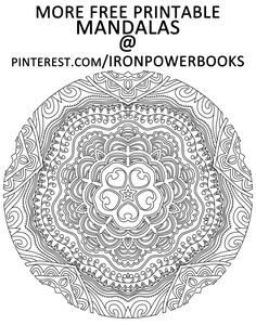 Follow @ironpowerbooks for More Printable Mandalas to Color. Click here for 49 more mandalas you can color: http://www.amazon.com/Mandalas-Color-Mandala-Coloring-Adults/dp/149733716X Copyright © 2014 IRONPOWER PUBLISHING