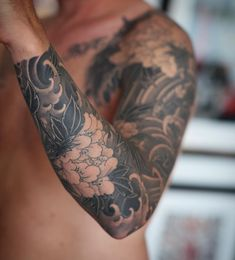 tribal flower tattoo for men & tribal flower tattoo _ tribal flower tattoos for women _ tribal flower tattoo for men _ tribal flower tattoo designs _ tribal flower tattoo sleeve _ tribal flower tattoo shoulder _ tribal flower tattoos for women hibiscus Asian Tattoo Sleeve, Nature Tattoo Sleeve, Thai Tattoo, Japanese Sleeve Tattoos, Best Sleeve Tattoos, Tattoo Sleeve Designs, Sleeve Tattoo Men, Japanese Forearm Tattoo, Tattoo Nature