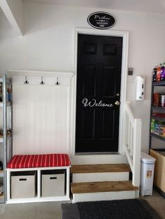 Garage mudroom-- no reason for the second entry to be dismal!