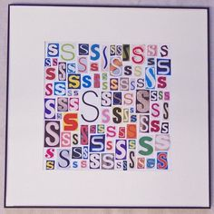 First / Last Name Letter Collage Could add photo in the middle! Letter Collage, Paper Collage Art, Paper Art, Collage Collage, Magazine Crafts, Magazine Art, Images Pop Art, Poesia Visual, Ecole Art