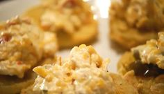 Like any good Southerner I love pimento cheese. The tangy blend of sharp cheddar, mayo and pimentos adds flare to just about anything from a saltine to a b