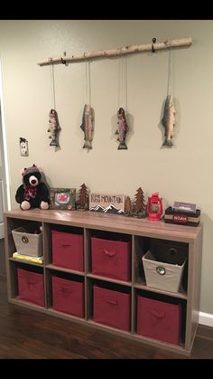 Cabin Fishing Bear Nursery theme or fish part in man cave thinking curvy branch tho -*A Bear Nursery, Nursery Room, Kids Bedroom, Cabin Nursery, Bedroom Ideas, Baby Boy Rooms, Baby Boy Nurseries, Country Boy Nurseries, Fishing Nursery
