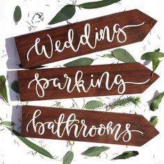 Wooden arrow sign. Wedding Sign. Wedding direction sign. Woodland wedding sign. wedding signage. Rustic wedding sign. Arrow wedding sign by willowandinkdesign on Etsy https://www.etsy.com/listing/269331678/wooden-arrow-sign-wedding-sign-wedding