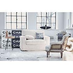 Sessel, abnehmbarer Bezug, 1,5 Sitzer, Bezug Baumwollmischgewebe Vorderansicht