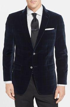 $595, Hart Schaffner Marx Classic Fit Velvet Blazer. Sold by Nordstrom. Click for more info: https://lookastic.com/men/shop_items/144802/redirect
