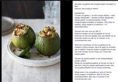 Gevulde courgettes met zongedroogde tomaatjes en feta van Sandra Bekkari #sandrabekkari