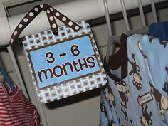 Baby clothes divider!