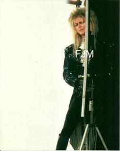 Labyrinth Nook — David Bowie showing off his ballroom glad-rags for. David Bowie Labyrinth, Labyrinth Movie, Jim Henson Labyrinth, Labrynth, The Thin White Duke, Goblin King, Star David, King David, The Dark Crystal