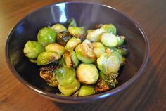Roasted Brussels Sprouts - turned out good, but watch them towards the end... they get dark fast!
