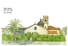 Barumini | Flickr - Photo Sharing! Watercolor Sketch, Watercolor Paintings, Watercolors, Drawing Sketches, Drawings, Watercolour Tutorials, Urban Sketching, Book Art, Illustration Art