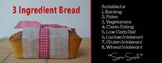 THIS 3 INGREDIENT BANTING BREAD BREAKING THE INTERNET- Weight Loss programes