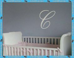 Personalized Script Initial  Vinyl Wall Decalz by CustomDecalz, $12.00