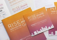 Designs for Twin Cities Rise Annual Gala 2015 on Behance
