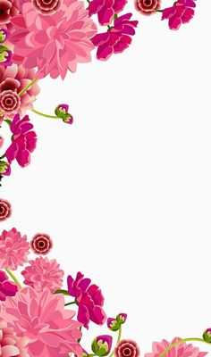 Phone Backgrounds Iphone Wallpaper Flower Borders For Paper Cute Wallpapers Watercolor Flowers Frame