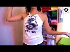 ▶ How-to Make a Halter Top with Megan Nicolay, Threadbanger - YouTube