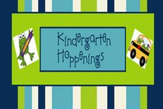 Kindergarten Hoppenings...great ideas for homework calendars.