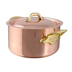 Mauviel Cocotte Copper Round Dutch Oven with Lid Size: Copper Pots, Copper Kitchen, Hammered Copper, Best Dutch Oven, Induction Stove, Mediterranean Homes, Fun Cooking, Cookware, Kitchenware