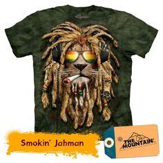Lion Shirt Rasta Smokin' Jahman T-shirt Tie Dye Green Adult Tee Wildlife Shirts Animal T-Shirts Tee Lion Shirt Rasta Smokin' Jahman T-shirt Tie Dye Tumblr Tee, Hoodie Allen, Harley Davidson, Smoking, Rasta Lion, Lion Shirt, Polo Shirt, Big Face, 3d T Shirts