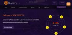 Recent Paying Status-Paying Now    About Newcrypto.ltd Newcrypto.ltd offers lucrative cryptocurrency market investments. Profitable operations and high yield are achieved through the use of modern systems for the cloud Bitcoin mining. The company cooperates with the largest farms in several countries (United Kingdom, United States of America, German, Japan, and China). Together,newcrypto.