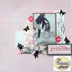 pretty and simple scrapbook layout