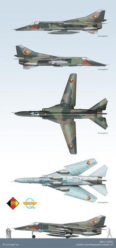 MiG-23BN nei colori del JBG-37 (DDR)