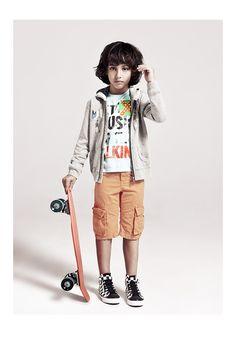 Sweat zippé à capuche pour garçon et bermuda fluo de la marque de vêtements IKKS #SS14 #IKKS