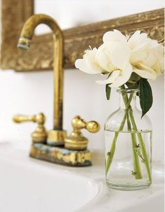 unlacquered brass faucet http://mysoulfulhome.com