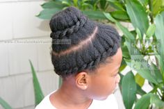 Quick and Easy Double Twisted Crown Up-Do #Hairstyle | Chocolate Hair / Vanilla Care
