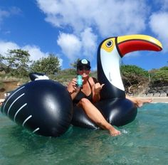 A humongous pool float for when you just (tou)CAN'T even deal with the heat.