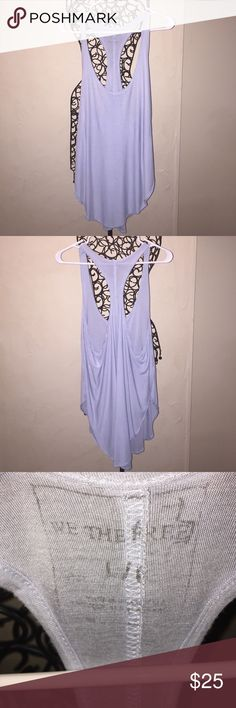Gorgeous Free People Tank size Large Baby Blue Free People Tank.  Size Large. In excellent condition! Only worn once. Such a beautiful top that can be dressed up or down for any occasion! Reasonable offers only please. No Trades! Free People Tops Tank Tops