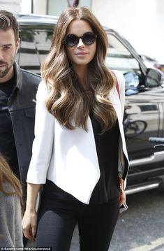 Mane event: Kate Beckinsale boasted an incredible mane as she turned out to London's BBC Radio 1 on Thursday