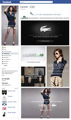 Tab Facebook: Lacoste