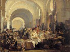 Les cigarières (Las Cigarreras) Gonzalo Bilbao Martinez, 1915 Huile sur toile, 305 x 402 cm Musée des Beaux Arts de Séville, Espagne #IBCLC