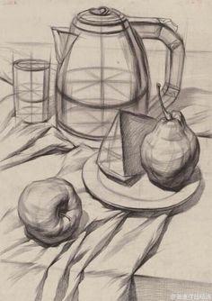 how to draw pumpkin Still Life Sketch, Still Life Drawing, Still Life Art, Pencil Art Drawings, Art Drawings Sketches, Observational Drawing, Object Drawing, Basic Drawing, Nature Drawing