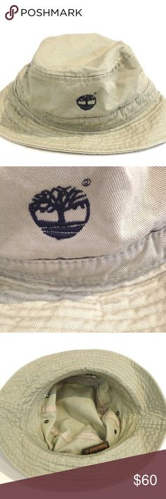c0e63f2d6ba VTG 90 S TIMBERLAND BUCKET HAT VINTAGE 90 S TIMBERLAND EMBROIDERED BUCKET  HAT KHAKI COLOR 100% COTTON EXCELLENT CONDITION. NO DAMAGE SEE PICTURES FOR  ...