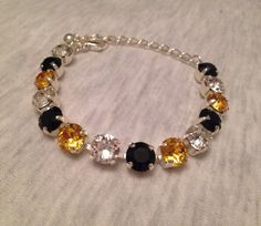Any Three Colors: Swarovski Bracelet 8 mm by emilytrends on Etsy