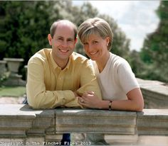 earlandcountessofwessex:  Photo taken of TRH The Earl and Countess of Wessex on the occasion of their first wedding anniversary, June 2000