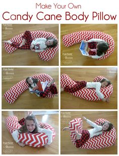 98632eb1b Giant Candy Cane Pillow - Body Pillow - Fairfield World Craft Projects